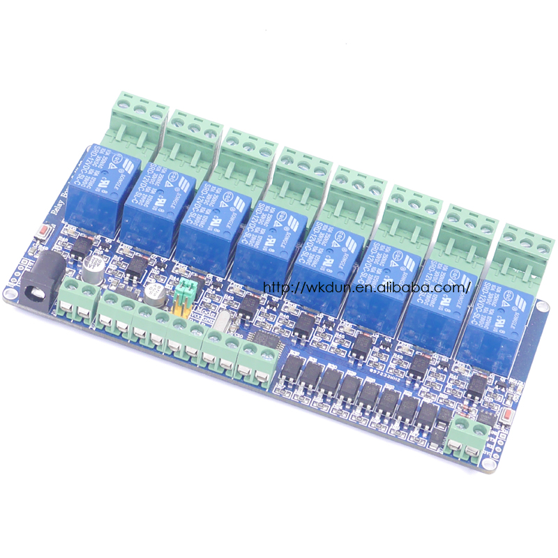 2017 New Arrival!!! Free Shipping 8-CH MODBUS RTU RS485 Network Expansion Board RS485 (Modbus RTU Mode)  2017 new arrival free shipping 8 ch modbus rtu rs485 network expansion board rs485 modbus rtu mode