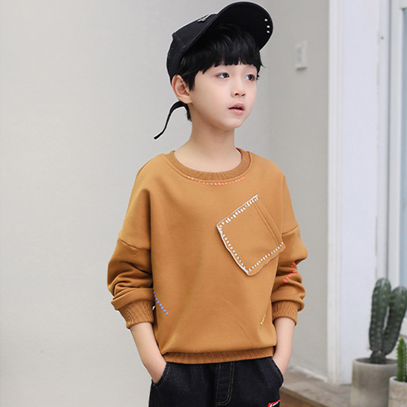 2018 Spring Autumn Sweater Kids Sweatshirt Baby Boys Hoodie Children Comfortable Soft Fashion Personality Pocket Quality Fleece 1