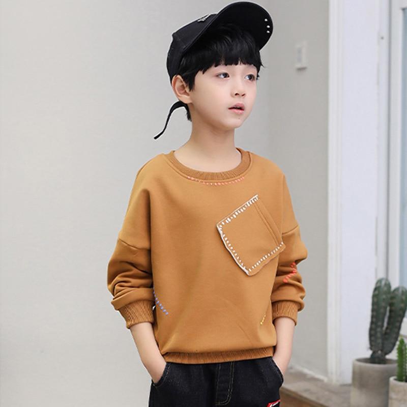 2018 Spring Autumn Sweater Kids Sweatshirt Baby Boys Hoodie Children Comfortable Soft Fashion Personality Pocket Quality Fleece 1