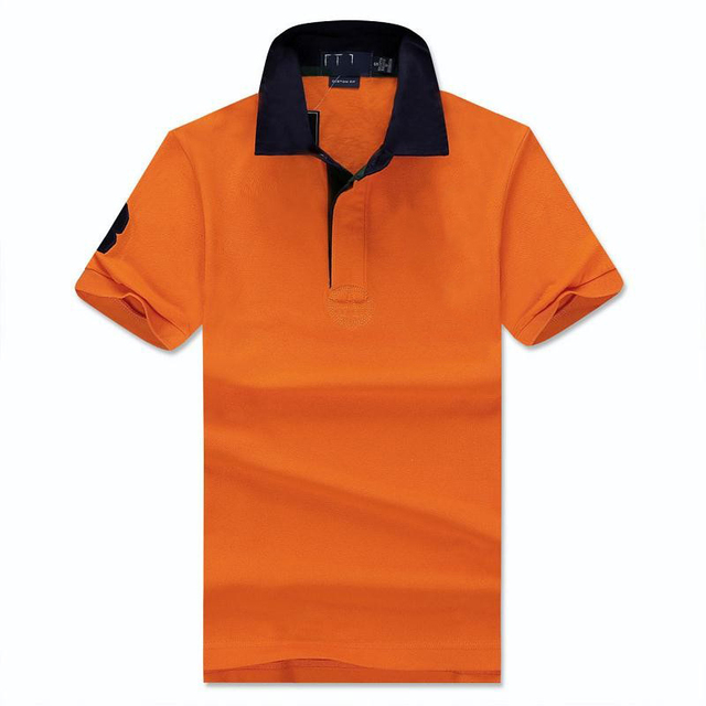 2016 New Solid Polo Shirt Men Classic Slim camisa polo Short-sleeve mens polo shirt brands polo ralphmen horse