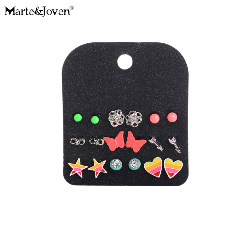 Wholesale Jewelry Accessories Lovely Ball Earring Sets Hot Sell Colorful  Flower Heart Star Stud Earrings For Teen Girls 9 Pairs. Online Get Cheap Teen Accessories  Aliexpress com   Alibaba Group