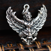 BESTLYBUY Thai silver pendant Eagle Bird Garuda power God S925 sterling silver jewelry pendant