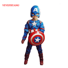 VEVEFHUANG Superhero Kids Muscle Captain America Costume Ave