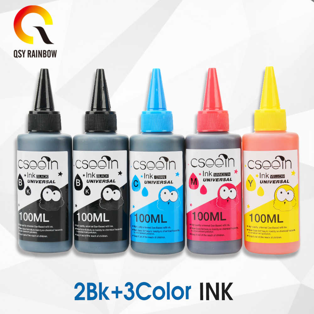 100 Ml * 5 Pewarna Tinta Isi Ulang Kit untuk HP 903 904 905 Ink Cartridge CISS untuk HP Officejet 6950 6956 HP Officeje T PRO 6960 6970 Printer