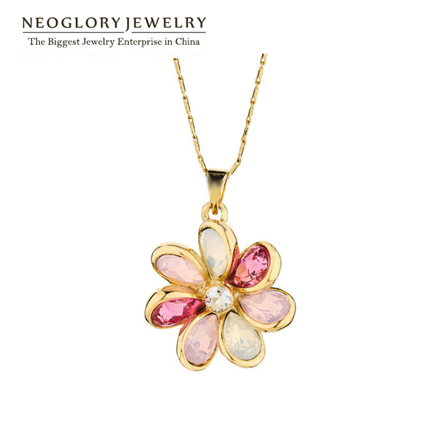 Aliexpress buy neoglory high quality austrian rhinestone neoglory high quality austrian rhinestone vintage jewelry flower designer necklaces pendants womens 2018 fashion new aloadofball Image collections
