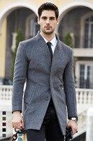 Shanghai Verhaal lange jas heren trenchcoat wollen jas mode gesp wollen business winterjas voor man