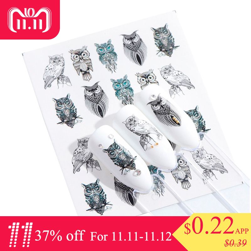 1 Sheets Summer 2018 Beauty Slider Nail Water Sticker Flower Bloom Colorful Image Nail Art Decals for Decor Tool