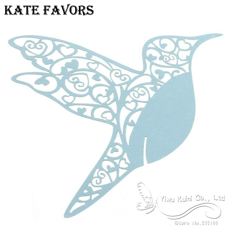 Wedding Table Decoration Laser Cut Hummingbird Place Cards For Wine