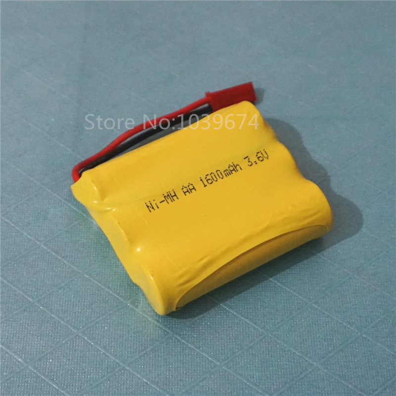 Full capacity 3.6V 1600MAH AA*3 Ni-MH Rechargeable Battery Packs for Model plane Toys Power Source