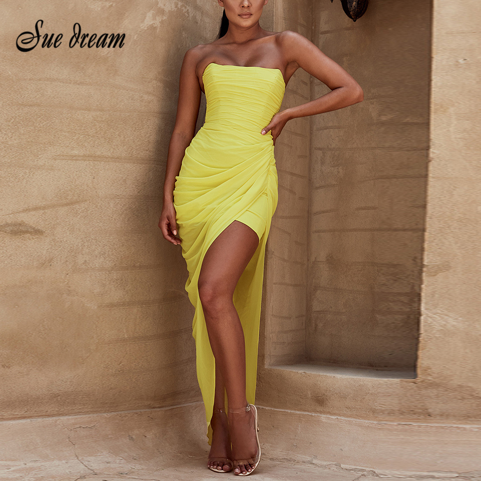 d51afd217a New 2019 High Quality Fashion Summer Sexy Maxi Dress Evening Party ...