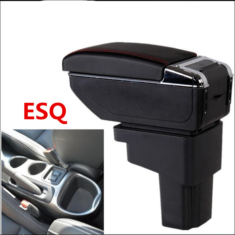 For Nissan Juke Armrest Box Central Store Content Box With Cup Holder Ashtray USB Juke Armrests Box