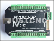 CNC Controller NVUM-SP USB MACH3 Interface Board Card 3 Axis 4 5 6 100KHz for Stepper Motor plc programmable logi