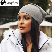 Ladybro Hat Cap Men Beanies Hat For Women Thin Bonnet Cap Solid Casual Ladies Skullies Beanies