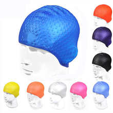 Flexible Silicone Waterproof Long Hair Ears Protection Swim Pool Water Sports Waterdrop Swimming Cap Hat for Men Women Adults 2019 silicone waterproof swimming caps protect ears long hair sports swim pool hat swimming cap for men women adults hot