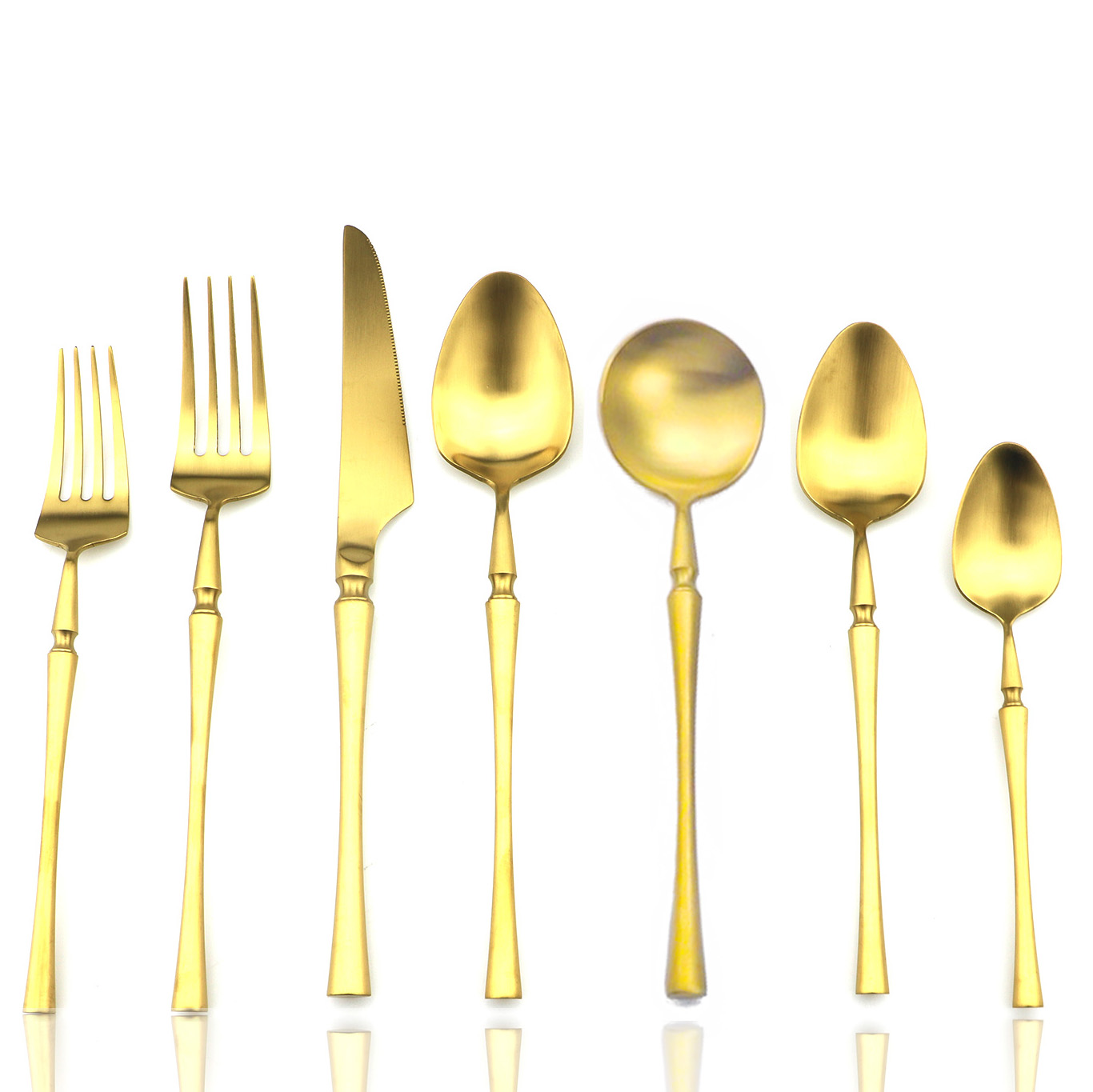 Elegant Plated Matte Gold Flatware Set