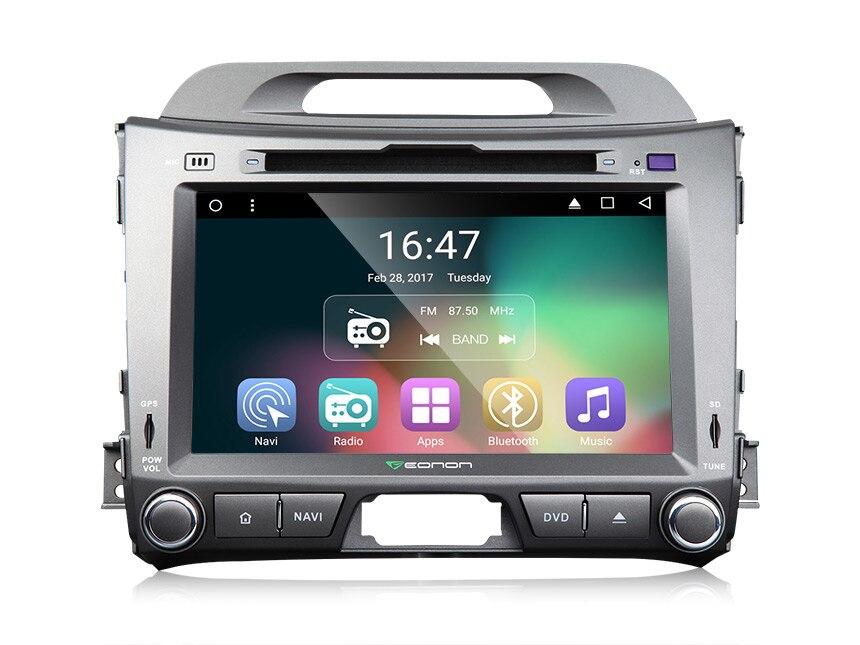8 Android 6.0 Marshmallow OS специально для Kia Sportage III 2010 2012 4 ядра автомобильный DVD с видео Выход от всех режимов Поддержка