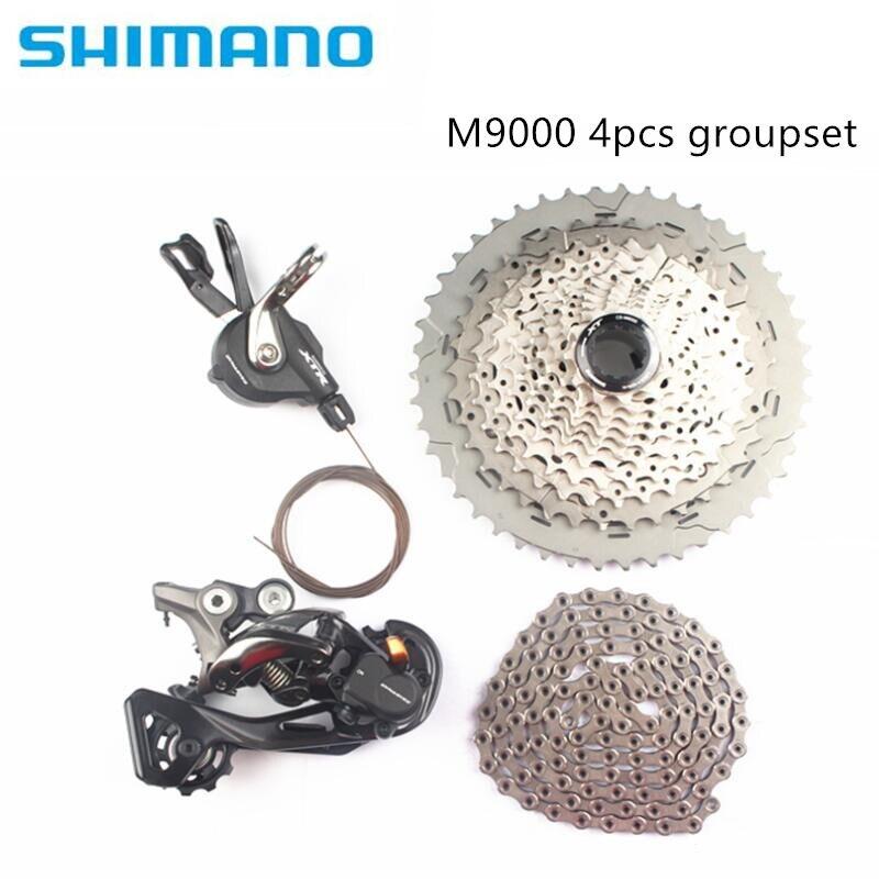 Shimano XTR M9000 4 pcs vélo vélo vtt 11 vitesse kit groupset avec M8000 cassette 40 t 42 t 46 t