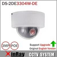 Express Shipping HiK PTZ IP Camera DS-2DE3304W-DE 3MP Network Mini Dome Camera 4X Optical Zoom Support Ezviz Remote View