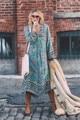 2016 Mujeres Boho Hippie Corto vestido de festa Dashiki Impreso Playa Vestidos Sexy Vintage Boho Hippie 3/4 Mangas Del Partido Vestido de Tirantes