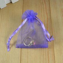 Trend Desgin Wholesale Lot 100pcs Darkish Purple Silk Marriage ceremony Present Jewellery Bag Pouches Bag08