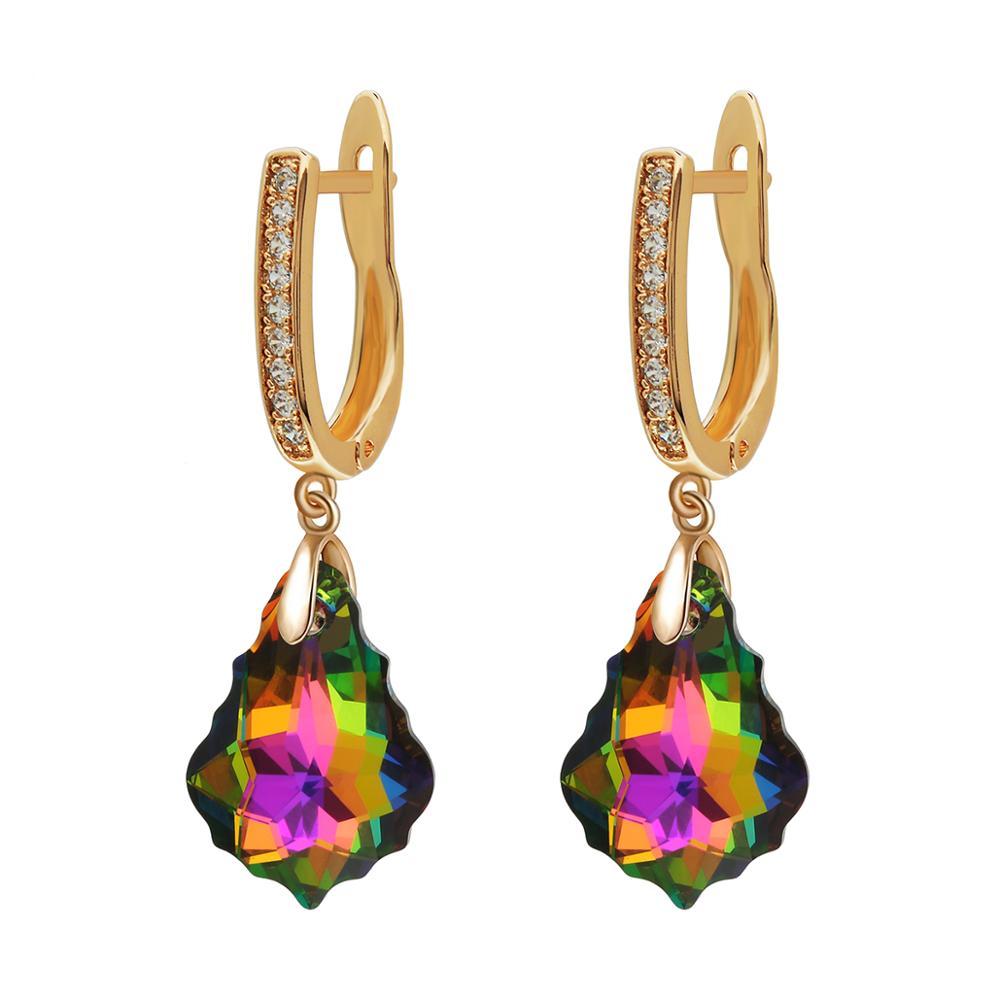 Niumike Earrings Embellished with crystals from Swarovski Earrings Women Luxury Teardrop Dangle Earrings Gift Box Package in Drop Earrings from Jewelry Accessories