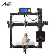 Anet A2 Reprap Prusa i3 3D Imprimante BRICOLAGE Kit De Haute Précision Cadre en aluminium Grande Taille D'impression Imprimante De Bureau Cadeau Filament SD Carte
