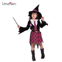 Umorden Purim Childrens Day Halloween Costumes for Girls Witch Costume Magic Girl Student Cosplay Uniform Dress