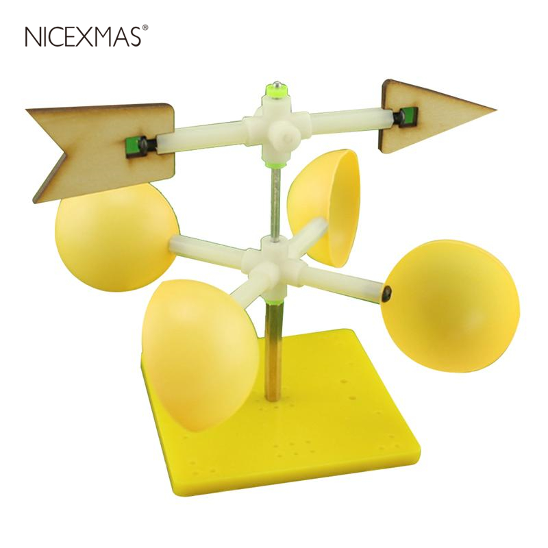 Wind Vane Model Scientific DIY Assembly Funny Experiment Wind Indicator Educational Toy Model Kit For Kids