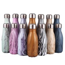 500ML/1000ML stainless steel wine bottle shape thermos bottle travel flask Vacuum bottle for water bottles bowling car kettle(China)
