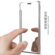 For Huawei honor 8 Case Smart Mirror View With Lite Reflect Light Stand Flip Cover For Mate 7 8 9 10 P7 P8 P9 lite Cover case