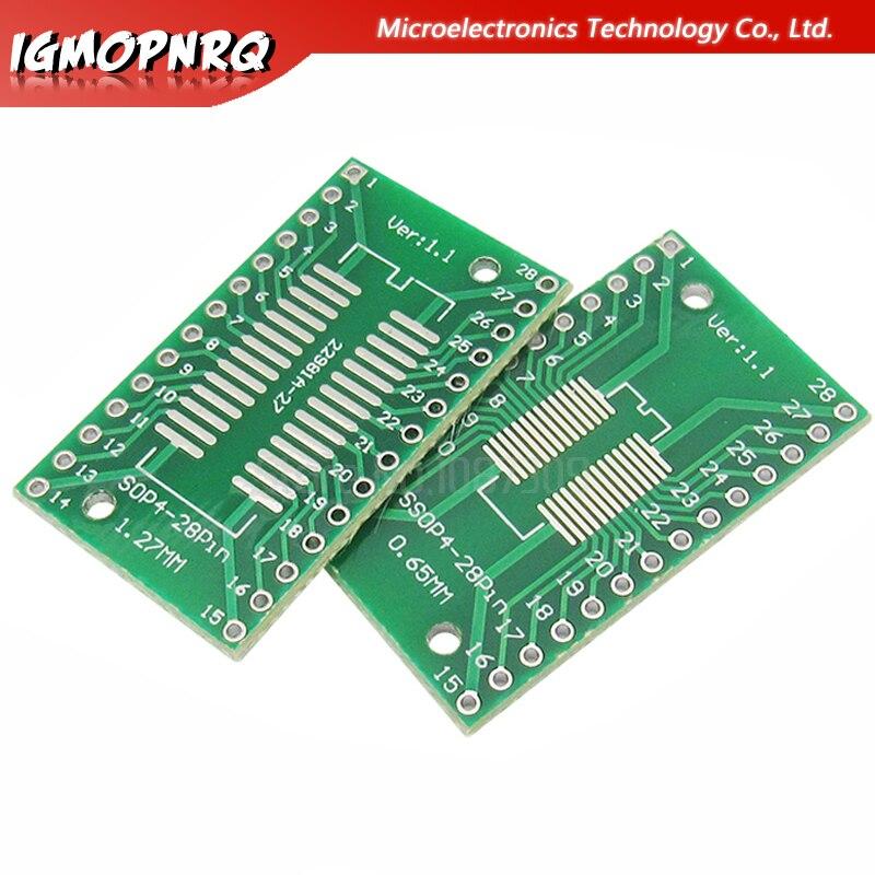 5PCS SSOP28 SOP28 TSSOP28 To DIP28 Adapter Converter PCB Board 0.65MM 1.27MM