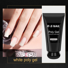 цена на RS Nail  Poly Gel UV/LED Gel Nail Polish Quick Builder Gel Extension Gel Nail Salon 6 colors Nude Transparent 50g