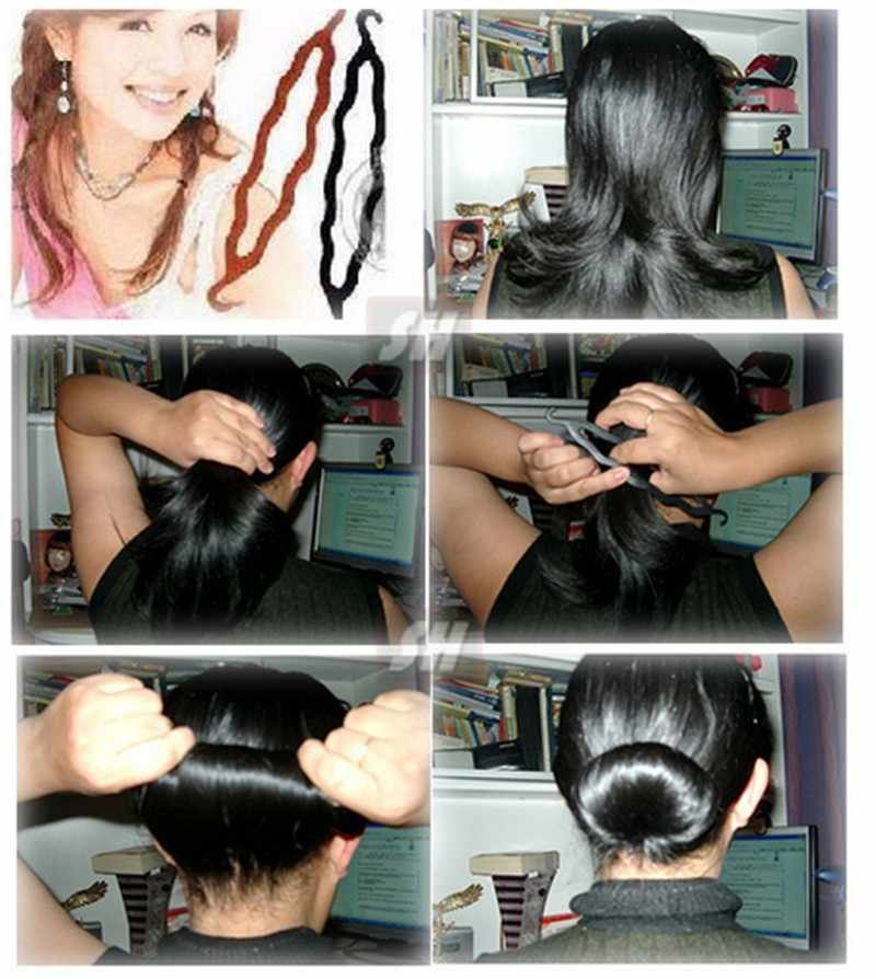 2 шт. Для женщин волшебный Поролоновый спонж Hairdisk устройство для волос Donut Быстрый грязные булочка Женская прическа, модный аксессуар для волос зажим, аксессуар для волос инструменты для стиля