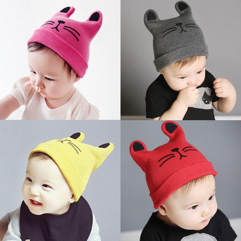 Mode 0-24 maanden Warm kind kat oren gebreide muts baby wol hoed (6 - Babykleding - Foto 2