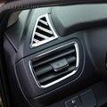 6 pçs/set Car styling, ABS Chrome tampa guarnição Decoração quadro Respiradouro de Ar Do Carro Apto Para KIA RIO K2 2011-2014 carro, acessórios do carro