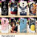 Macio tpu casos do smartphone para letv leeco le 2 pro x20 x25 Le 2X620 Flores de Disco Back Covers Habitação Colorido Bainha Capa Bags