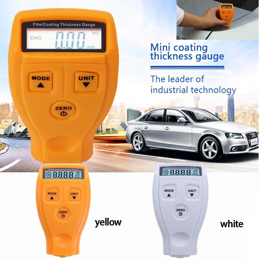GM200 Coating Gauge pintura espesor mano laca Metal Film Tester herramienta bolsa de embalaje de burbuja sin batería entrega
