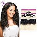 KUNNA Malaysia Virgin Hair Weave Malaysian Curly Virgin Hair 200g human hair bundles Malaysian Deep Curly Virgin Hair Weave
