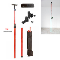 Firecore Maximum 4M Extend Tripod for Laser Level 1/4and 5/8 Interface Laser Bracket Elongation Tripod