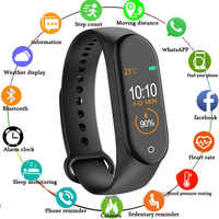 2019 Newest Music Fuction Color Screen Fitness Heart Rate Smart Bracelet Fitness Tracker PK Mi Band 4 3 Smart Bracelet
