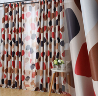 New 2016 Hot Double Sided Printing Luxury Blackout Curtains Modern Home Jacquard Fabric Drapes Goods To