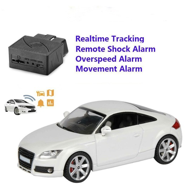 OBD II Realtime GPS Tracker 16PIN OBD Mini Plug Play Car GSM OBD2 Tracking Device OBD II GPS Locator With Software/APP