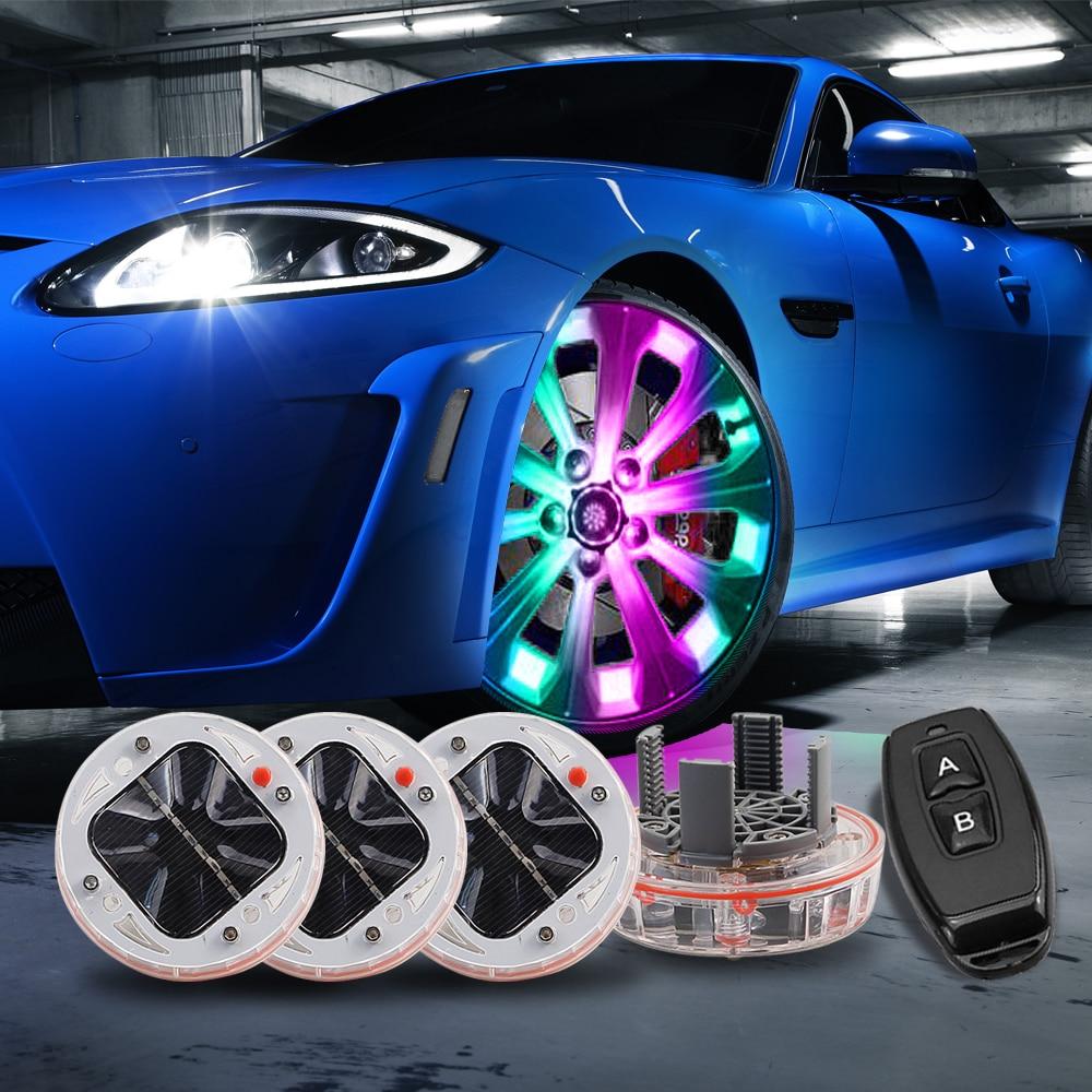 Kolesne luči za avtomobilske pnevmatike 4 paketno sončno pesto - Avtomobilske luči - Fotografija 6