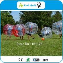 10 шт.+ 2 воздуходувки бесплатно дешевая цена, 1,5 м пузырь футбол для командного строительства и вечерние, loopy мяч, зорбинг мяч для продажи