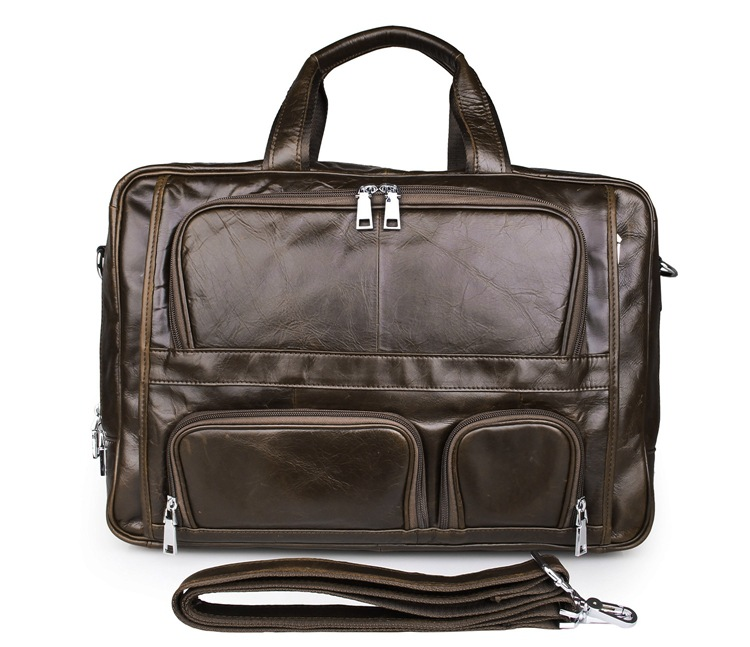 Genuine Leather Bag Men Messenger Bags Cowhide Laptop Business Handbag Men's Briefcase Large Capacity Men Travel Bags #VP-J7289 все цены