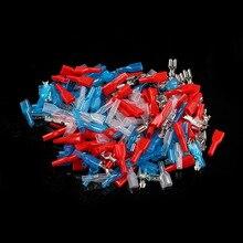 100 шт 6,3 мм обжимные клеммы 50 гнездовые соединители электрические соединители обжимные клеммы набор с 50 чехол