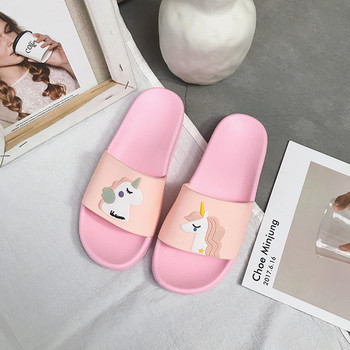 Unicorn Slide Sandals Women Slides Summer Cartoon Slippers Women Shoes Ladies Flip Flops Slide Sandals Beach Zapatillas Mujer 4