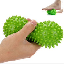 1pcs Peanut Massage Ball Spiky Relief Muscle Pain Stress Therapy Health Care Gym Relex Apparatus Soft Fitness