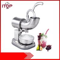 Ice Shaver Machine Electric Snow Cone Maker Stainless Steel Shaved Ice Machine 145lbs Per Hour