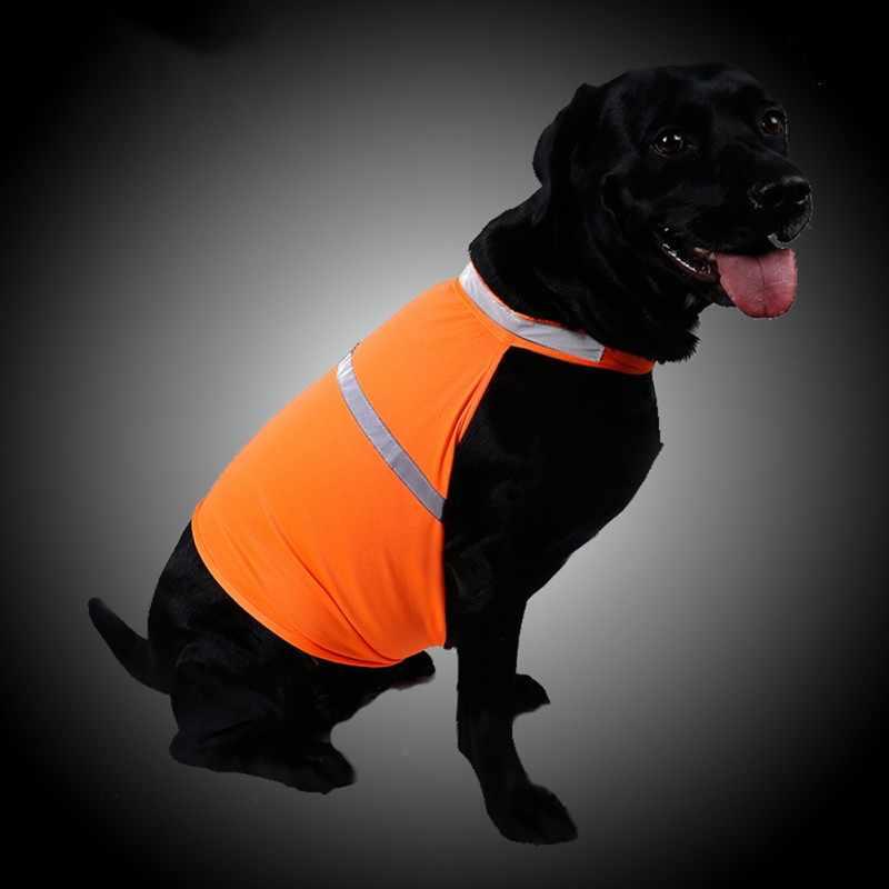 2018ペット蛍光安全ベストのため春&夏の綿通気性の服テディプードル小型犬ドロップ無料
